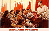 Original visits and meetings
